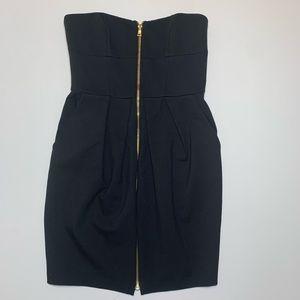 Cynthia Steffe black zip up dress size 2 NWT